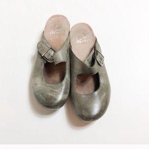 Dansko Grey Mule Slide Clogs 36